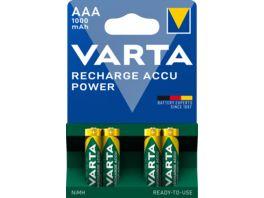 VARTA RECHARGE ACCU Power NIMH Akku Micro AAA 1000mAh 4 Stueck