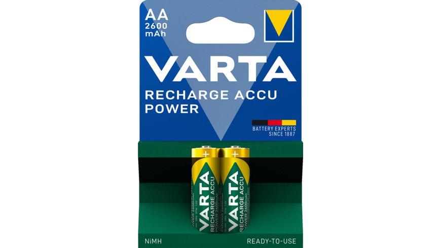 VARTA RECHARGE ACCU Power NIMH Akku Mignon AA 2600mAh 2 Stueck