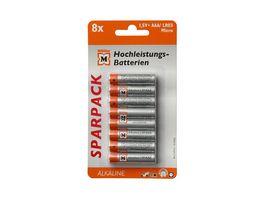 Mueller Hochleistungs Batterie Alkaline Micro AAA 1 5V 8 Stueck