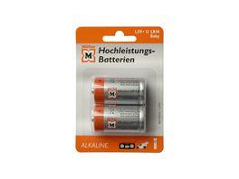 Mueller Hochleistungs Batterie Alkaline Baby C 1 5V 2 Stueck