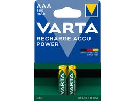 VARTA POWER AKKU NIMH Ready 2 use Micro AAA 2 Stueck