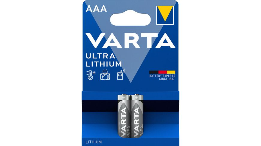 VARTA ULTRA LITHIUM Lithiumbatterie Micro AAA 1 5V 2 Stueck