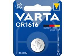 VARTA ELECTRONICS Knopfzelle Lithium CR 1616 3V 1 Stueck