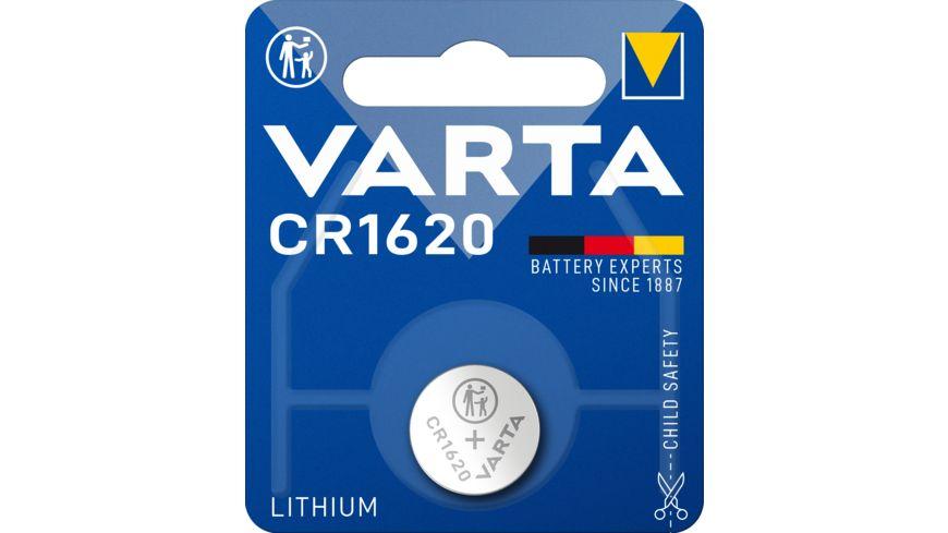 VARTA ELECTRONICS Knopfzelle Lithium CR 1620 3V 1 Stueck