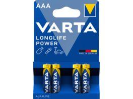 VARTA HIGH ENERGY Alkalinebatterie Micro AAA 1 5V 4 Stueck