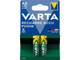 VARTA RECHARGE ACCU Phone NIMH Akku Mignon AA 1600mAh 2 Stueck