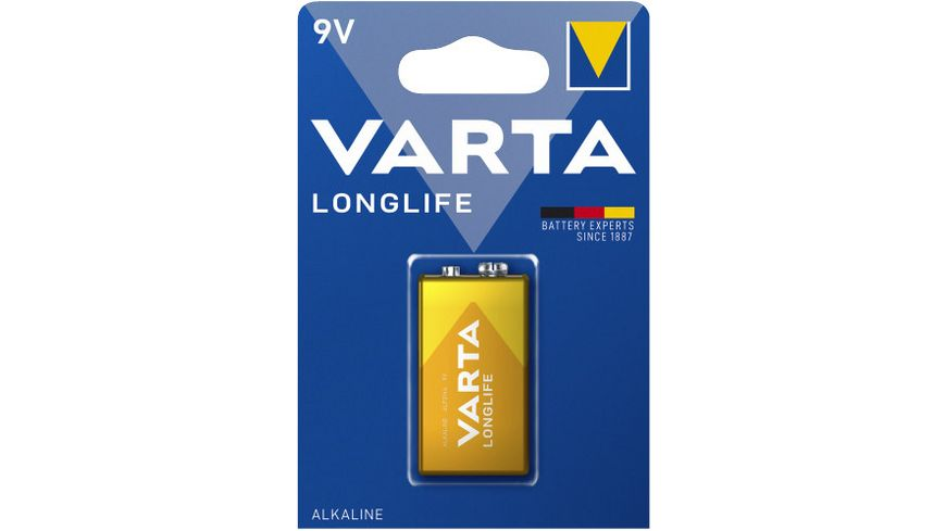 VARTA LONGLIFE Alkalinebatterie E Block 9V 1 Stueck