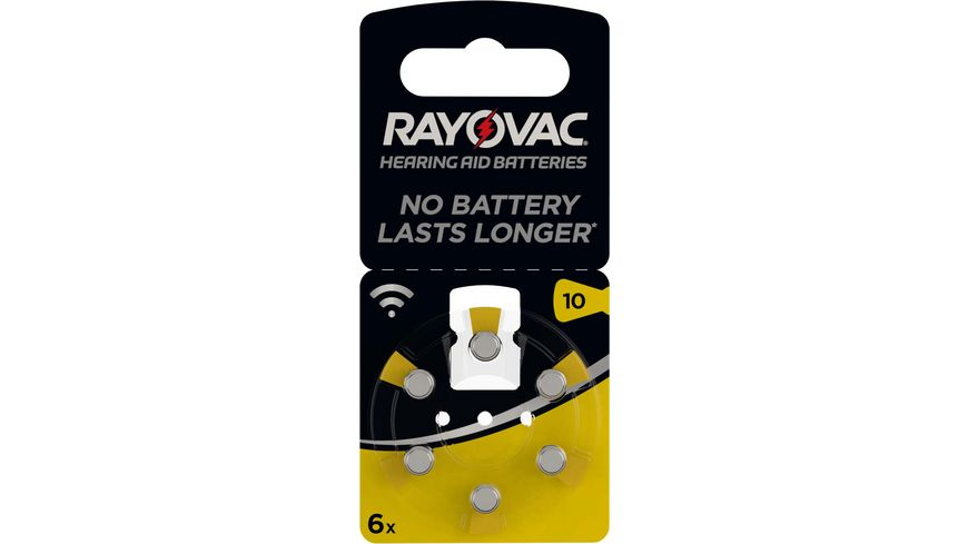 VARTA RAYOVAC Hoergeraetebatterie Zink Luft V10 Acoustic 1 4V 6 Stueck