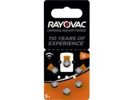 VARTA RAYOVAC Hoergeraetebatterie Zink Luft V13 A Acoustic 1 4V 6 Stueck