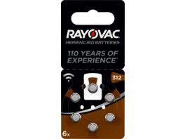 VARTA RAYOVAC Hoergeraetebatterie Zink Luft V312 Acoustic 1 4V 6 Stueck