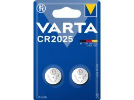 VARTA ELECTRONICS Knopfzelle Lithium CR 2025 3V 2 Stueck