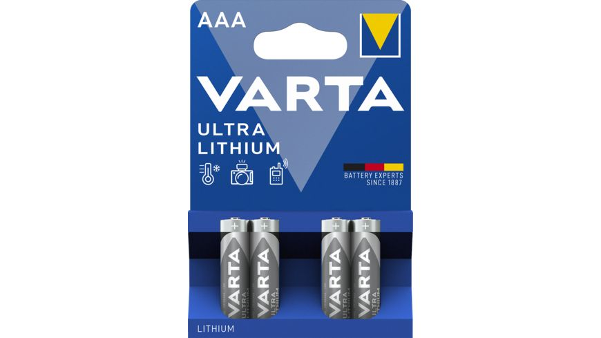 VARTA PROFESSIONAL Lithiumbatterie Micro AAA 1 5V 4 Stueck