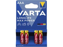 VARTA MAX TECH Alkalinebatterie Micro AAA 1 5V 4 Stueck