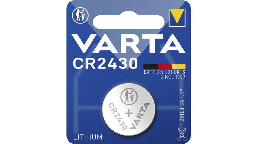 VARTA ELECTRONICS Knopfzelle Lithium CR 2430 3V 1 Stueck