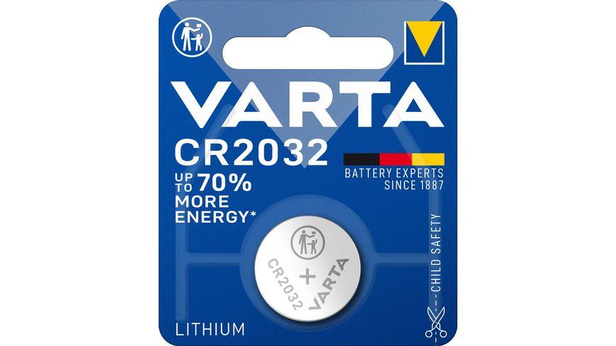 VARTA ELECTRONICS Knopfzelle Lithium CR 2032 3V 1 Stueck