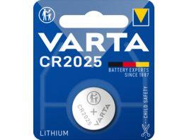 VARTA ELECTRONICS Knopfzelle Lithium CR 2025 3V 1 Stueck