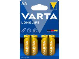 VARTA LONGLIFE Alkalinebatterie Mignon AA 1 5V 4 Stueck