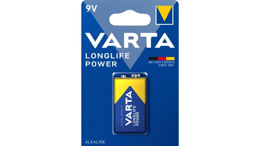VARTA LONGLIFE Power Alkalinebatterie E Block 9V 1 Stueck