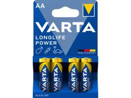 VARTA LONGLIFE Power Alkalinebatterie Mignon AA 1 5V 4 Stueck
