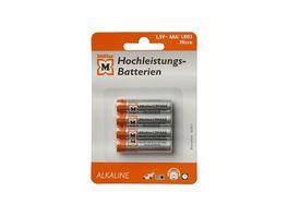 Mueller Hochleistungs Batterie Alkaline Micro AAA 1 5V 4 Stueck