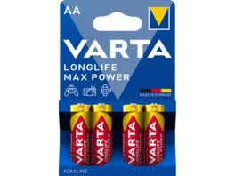 VARTA LONGLIFE Max Power Alkalinebatterie Mignon AA 1 5V 4 Stueck