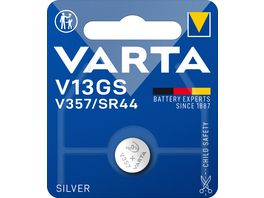 VARTA ELECTRONICS Knopfzelle Silberoxid V13GS SR44 1 Stueck