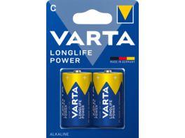 VARTA LONGLIFE Power Alkalinebatterie Baby C 1 5V 2 Stueck