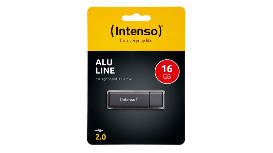 Intenso USB-Stick Alu Line 16 GB Anthrazit