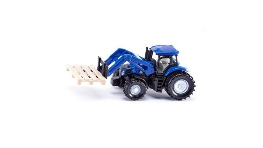 SIKU Super Traktor mit Palettengabel und Palette