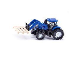 SIKU 1487 Super Traktor mit Palettengabel und Palette