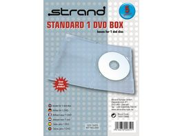 Strand DVD Leerhuelle mit Booklet fuer jeweils 1 DVD transparent 5er Pack
