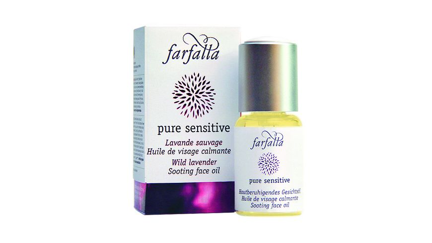 Farfalla Pure Sensitive Hautberuhigendes Gesichtsoel Wilder Berglavendel