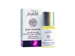 Farfalla Pure Sensitive Hautberuhigendes Gesichtsoel Wilder Berglavendel