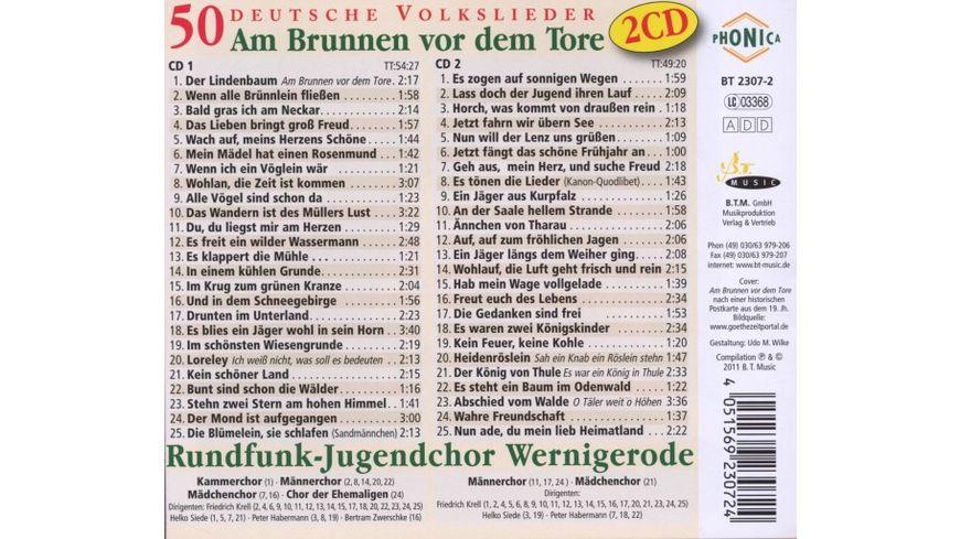 Am Brunnen Vor Dem Tore 50 Deutsche Volkslieder
