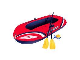 Bestway Hydro Force Raft Set Boot 188 x 98 cm mit Blasebalg und 2 Paddeln