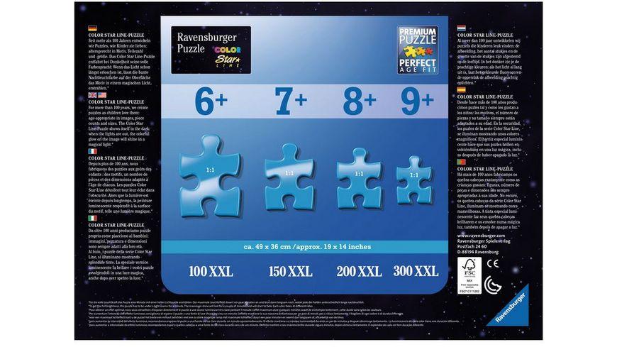Ravensburger Puzzle Dreifarbiges Leuchtpuzzle Einhoerner im Mondschein 100 Teile