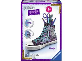 Ravensburger Puzzle 3D Puzzles Girly Girl Edition Sneaker Animal Trend 108 Teile