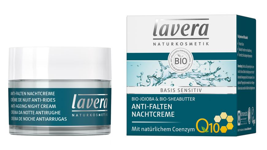 lavera basis sensitiv Anti Falten Nachtcreme Q10
