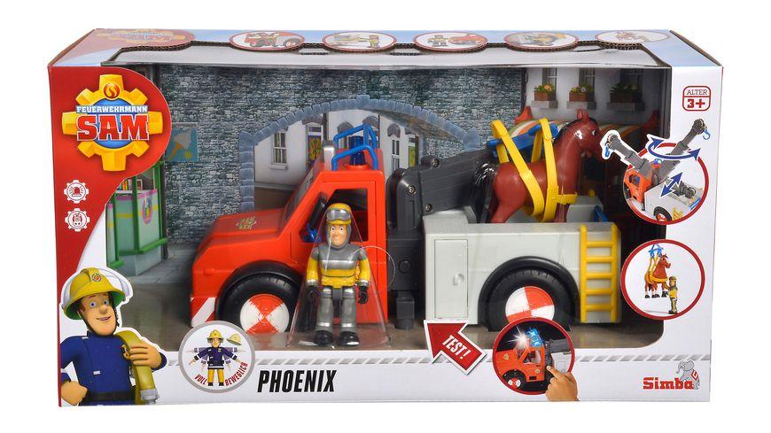 Simba Feuerwehrmann Sam Phoenix mit Figur Simba