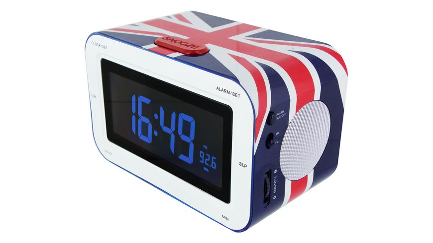 Radiowecker RR30 Union Jack color Soft Touch Oberflaeche