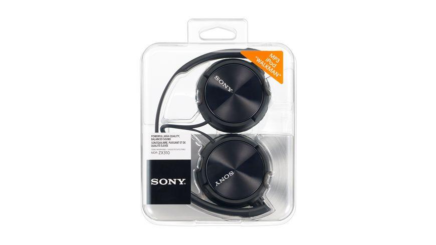 Sony On Ohr Kopfhoerer Schwarz MDRZX 310