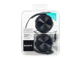 Sony On Ohr Kopfhoerer Schwarz MDRZX 310APB Schwarz