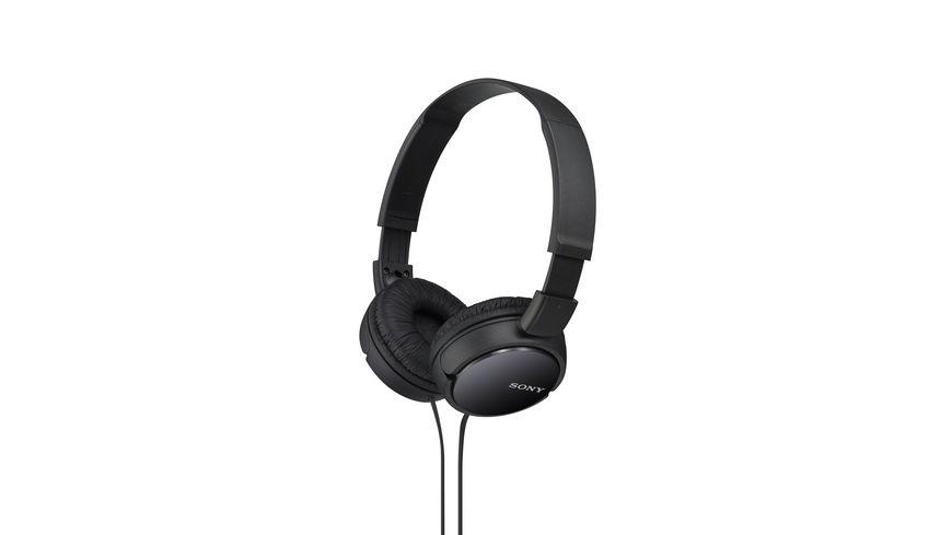 Sony On Ohr Kopfhoerer Schwarz MDR ZX 110