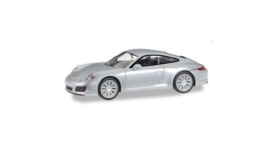 Herpa 038638 Porsche 911 Carrera 4S rhodiumsilber metallic