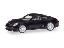 Herpa 038638 Porsche 911 Carrera 4S tiefschwarz metallic