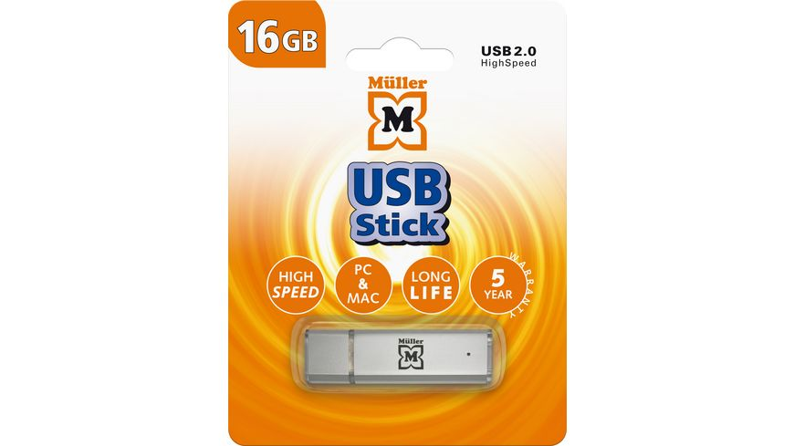 Mueller USB Stick 16GB USB 2 0