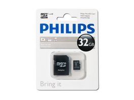 PHILIPS microSDHC Card 32GB Cl 10 SD Adapter