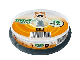 Mueller DVD RW 4 7GB 10er Cakebox