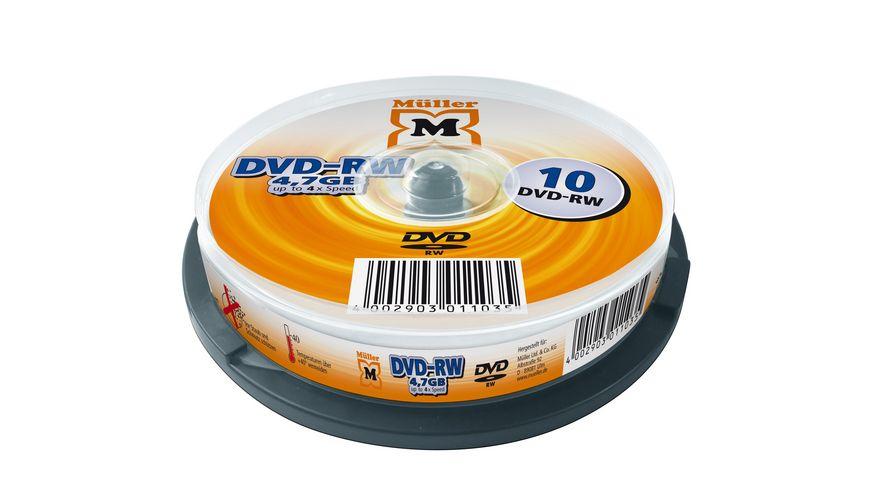 Mueller DVD RW 4 7GB 10er Cakebox