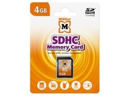 Mueller SDHC Card 4GB Cl 4
